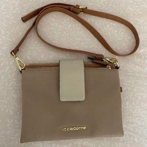 Liz Claiborne tan cross body purse